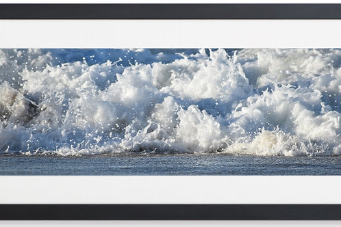 Framed Ocean Splash By Concetta Ellis