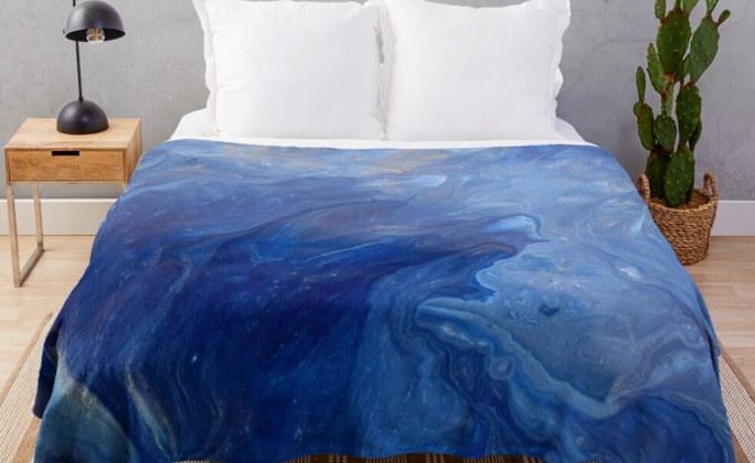 Throw Blanket Endless Blues Ocean Waves