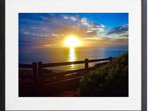 Framed Sunset Rancho Palos Verdes Trail