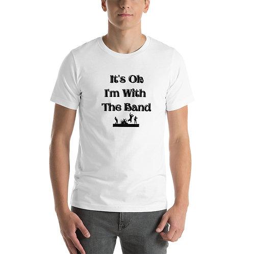 I'm With The Band White Short-Sleeve Unisex T-Shirt
