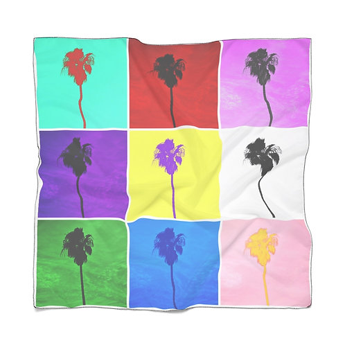 Pop Art Palm Trees Scarf