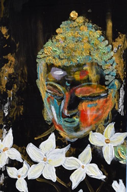 Note Card Black Buddha Girl Art By Concetta Ellis