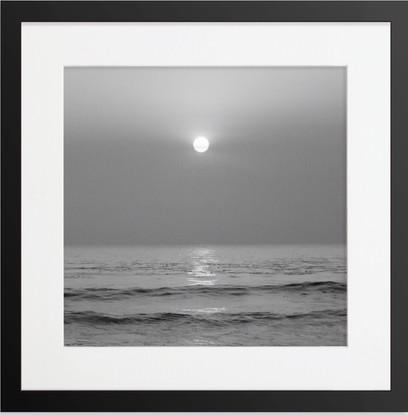 Framed Bristol Black And White Sunset