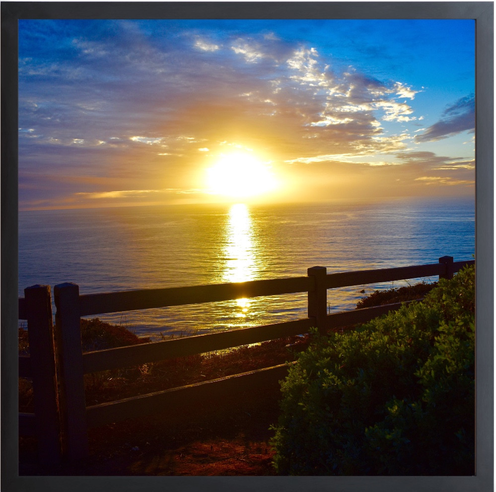 SUNSET RANCHO PALOS VERDES TRAIL Gallery Frame Photography By Concetta Ellis