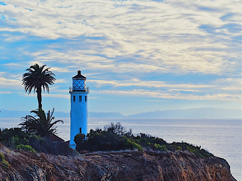 Note Card Lighthouse Point Vincente, Ca Photography By Concetta Ellis