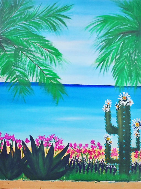 "Note Card Painting Art ""Ocean View"" By Concetta Ellis"