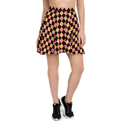 Skater Skirt Mid-Century Diamond Design #2
