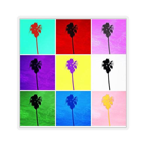 Pop Art Culture Palm Trees Kiss-Cut Stickers