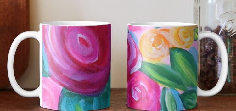 Floral Mug Art By Concetta Ellis Whimsic