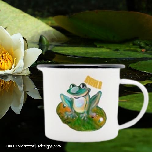 Camping Mug   Frog Mug   Happy Quote   Smile   Frog Gift
