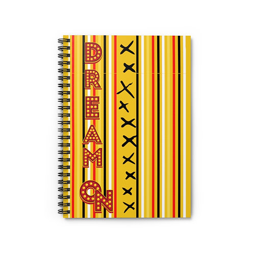 Spiral Notebook Dream On Yellow Gold - Ruled Line