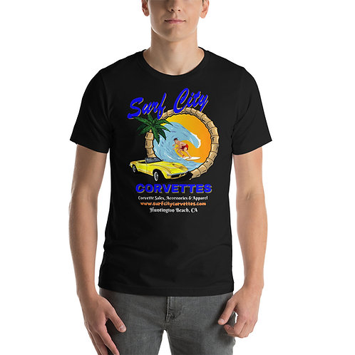 Surf City Corvettes Short-Sleeve T-Shirt   Bella + Canvas