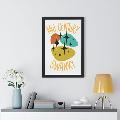Mid-Century Wall Decor   Framed Vertical Poster   Funny   Mid Century Swanky