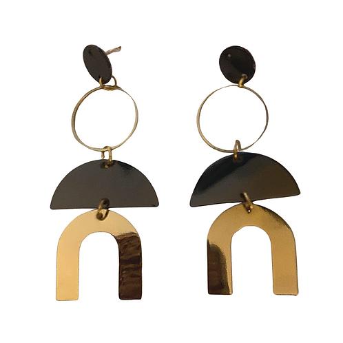 Mid-Century Metal Earrings