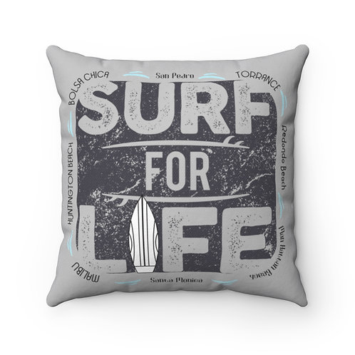 Surfer Pillow | Grey Surf Pillow And Case | South Bay California Surf Pillow