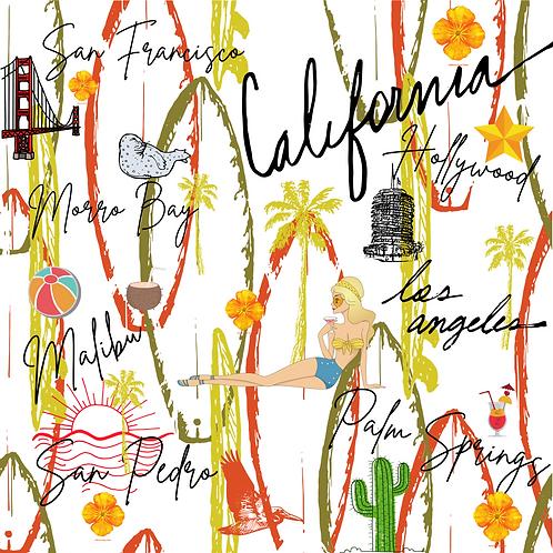 California Vintage White Premium Cards (10)pcs