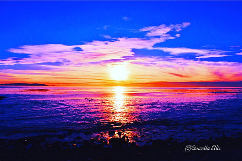 Note Card Sunset 30 San Pedro, Ca Photography By Concetta Ellis