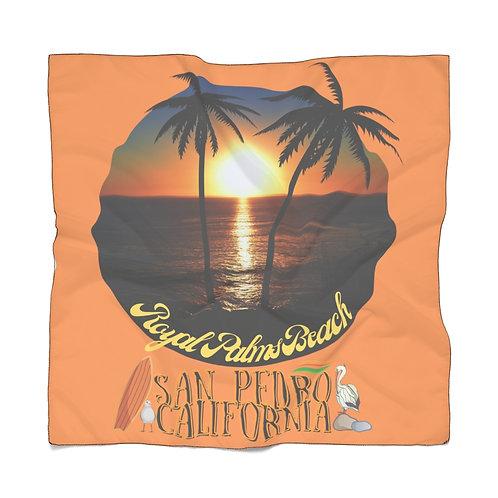 San Pedro California Scarf | Summer Scarf | San Pedro Ca Souvenir | Orange Scarf