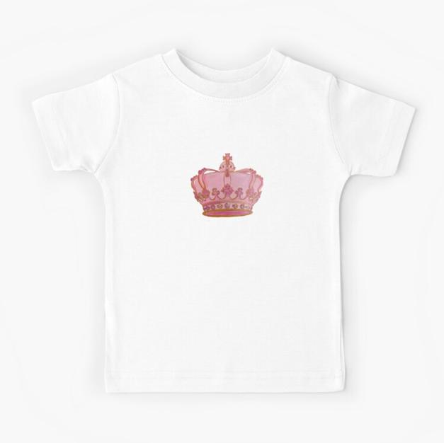 T-Shirt Kids Pink Crown Concetta Ellis
