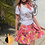 Thumbnail: California Vintage Skater Skirt  Pink