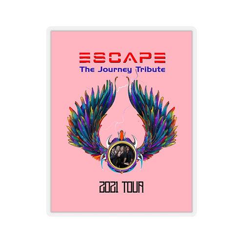Escape The Journey Tribute Band 2021 Tour Kiss-Cut Pink Stickers