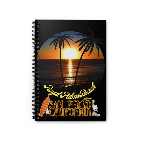 Spiral Notebook San Pedro California Royal Palms Beach - Ruled Line