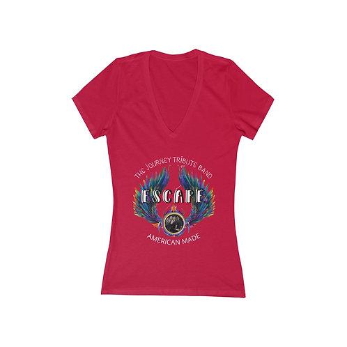 Escape Journey Tribute Band Women's Jersey Short Sleeve Deep V-Neck Tee