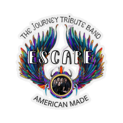 Escape The Journey Tribute Band Kiss-Cut Stickers