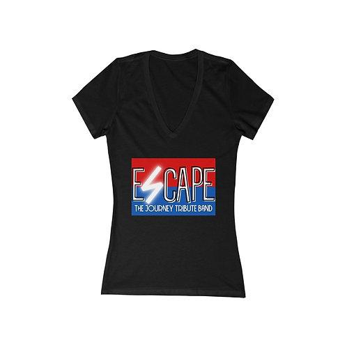 Journey Tribute   Escape   Women's Jersey Short Sleeve Deep V-Neck Tee