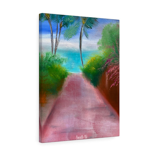 Canvas Gallery Wraps | Ocean Painting | Pathway | Beautiful | Beach Decor |