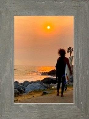 Surfer Framed Print San Pedro Ca Royal Palms Beach