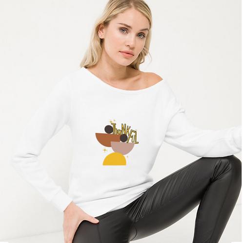 Mid-Century Women's Off The Shoulder Sweatshirt