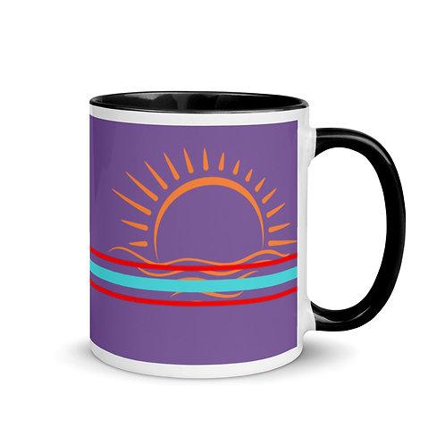 Good Vibes Purple Mug with Color Inside