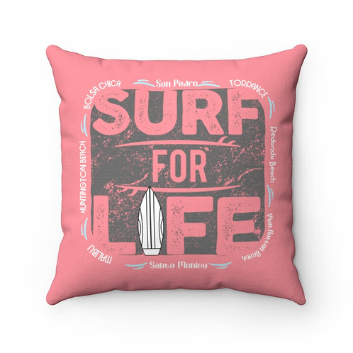 Surfer Pillow | Pink Surf Pillow And Case | South Bay California Surf Pillow