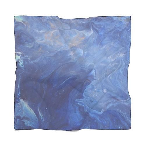 Blue Ocean Waves Scarf