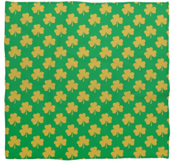 Green Silk Square Scarf With Gold Shamro