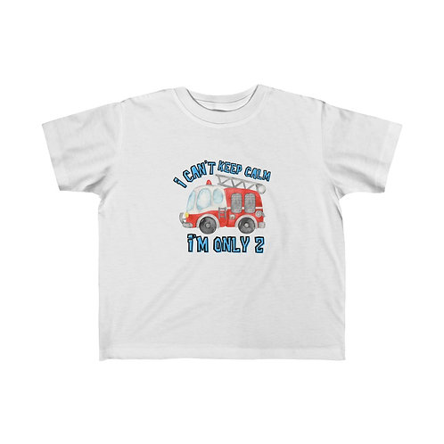 """Toddler T-Shirt With Fire Truck 