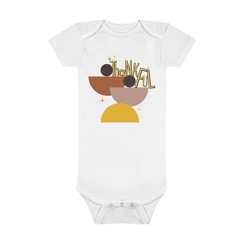 Onesie® Organic Baby Bodysuit | Mid-Century Baby | Thankful