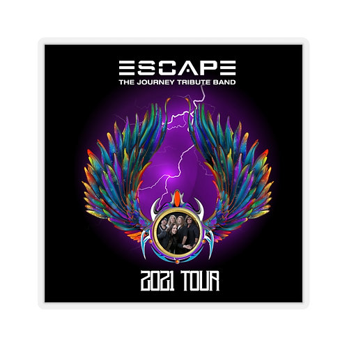 Escape The Journey Tribute Band With Band Photo Kiss-Cut Stickers