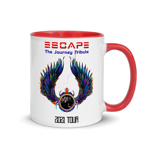 Escape Journey Tribute Band White Mug with Color Inside