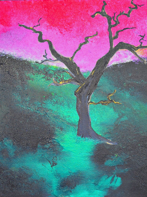 "Note Card Tree ""Bare Beauty"" Print Painting By Concetta Ellis"