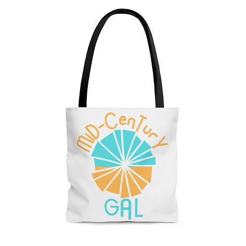 Mid-Century Gal Tote Bag   Boho Beach Bag   Modern Retro Design   Gifts For Her