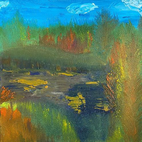 Note Card Print Of Oil Painting Fall In Oregon Original Art