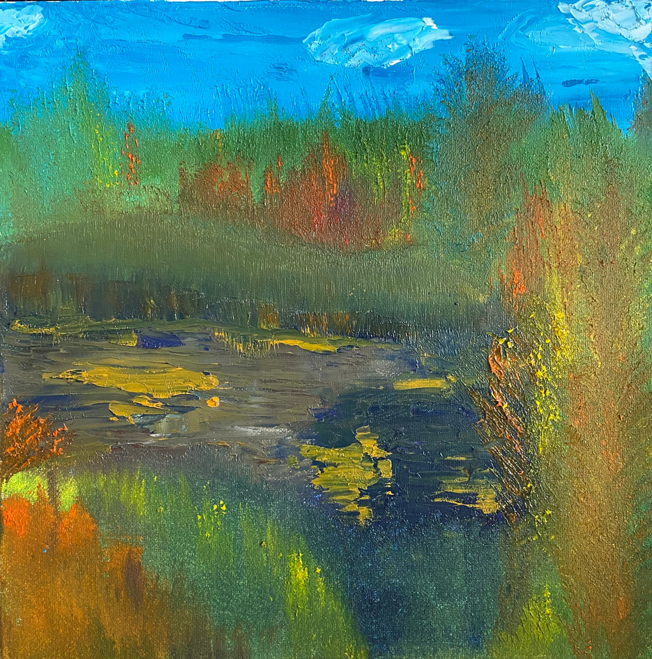 Painting Oil Fall In Oregon By Concetta
