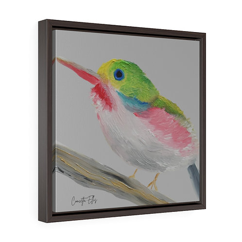 Bird Wall Art   Square Framed Premium Gallery Wrap Canvas   Print Oil Painting