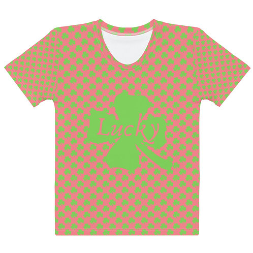 Pink Green Clover Best Seller Women's T-shirt