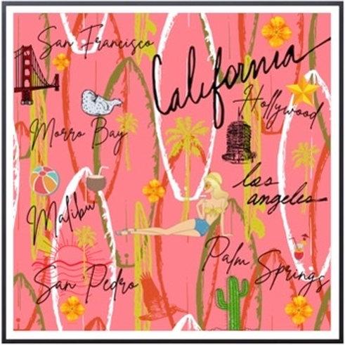 California Vintage Framed Gallery Wall Art