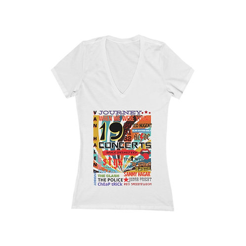 80s Bands When We Were Young Women's Jersey Short Sleeve Deep V-Neck Tee