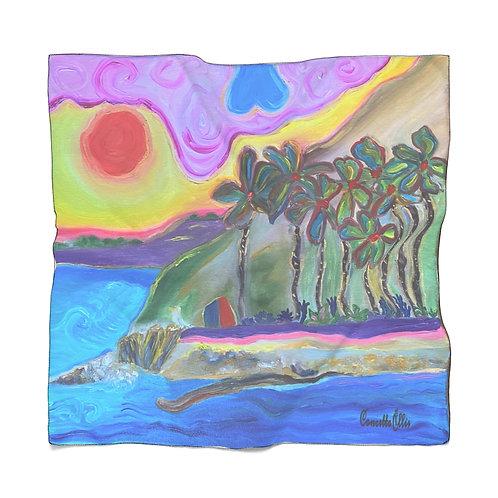 San Pedro California Scarf | Royal Palms Beach Painting | Beach Scarf