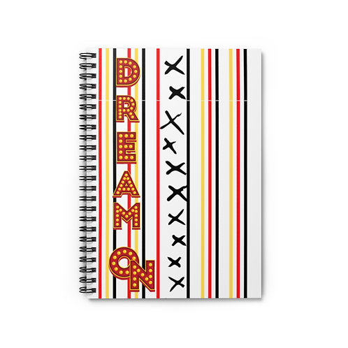 Spiral Notebook Dream On White - Ruled Line